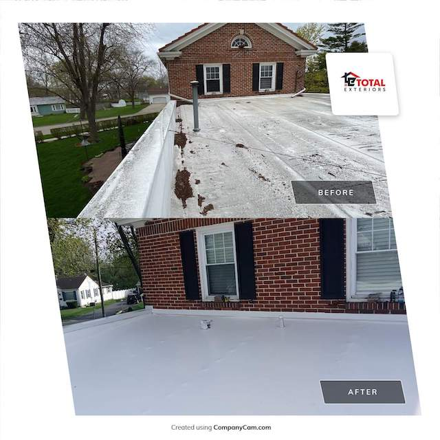 Roof repair for residential home