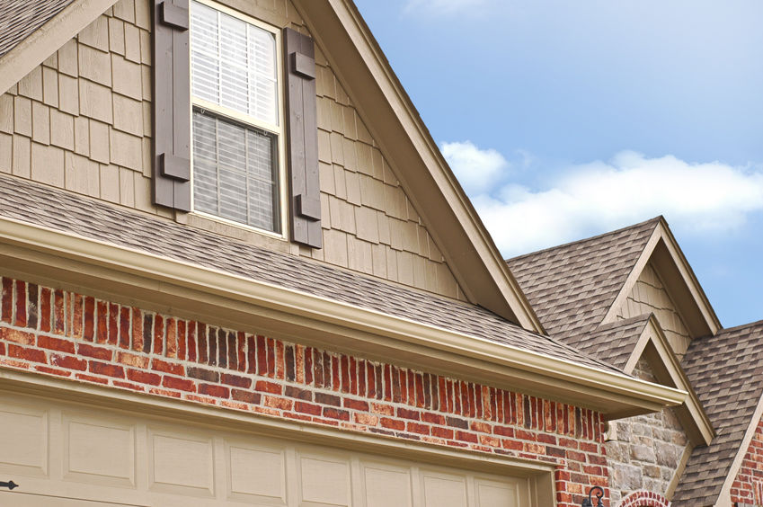 Side Angle of Roof line of a house with gabels