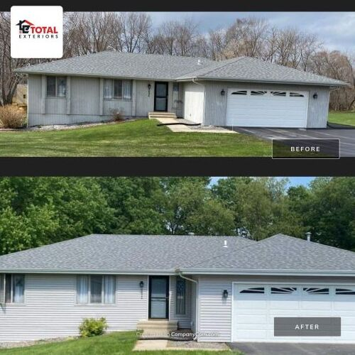 Before and After of Asphalt Shingle Roof Installation
