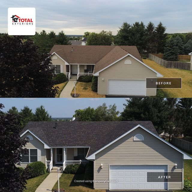 roof insurance claim before and after