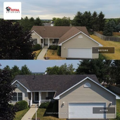 Before and After Photos of Total Exteriors Work.
